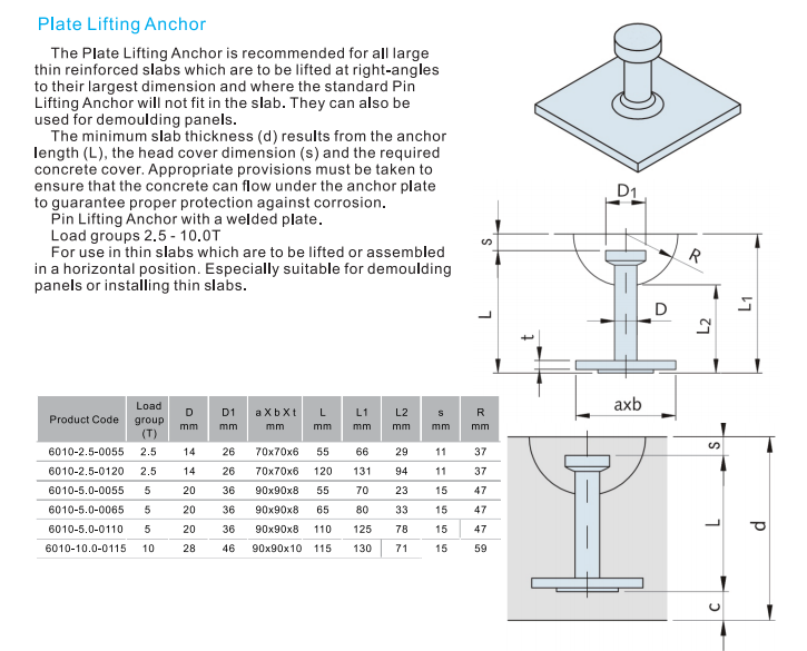 CONCRETE FORMING FORMWORK SYSTEM LIFTING SYSTEM